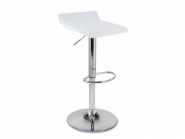 Tabouret bar cuir simili blanc
