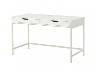 Table bureau 2 tiroirs blanc