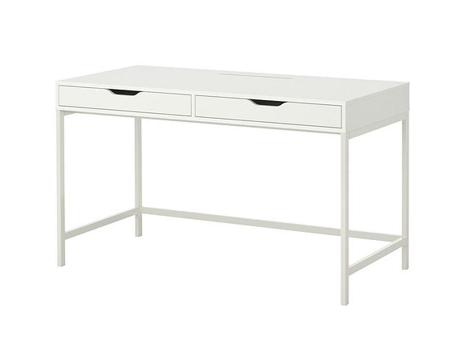 Table bureau tiroirs blanc