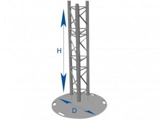 Totem poutre triangulaire SX 290 : 5.00m