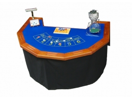 Table casino merisier chuck a luck