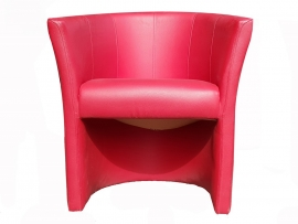 Fauteuil rouge simili cuir