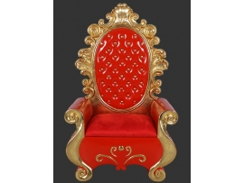 Fauteuil or et rouge luxe