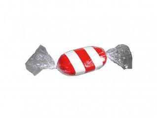 Bonbon géant rouge et blanc