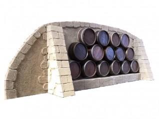 Cave à vin mur pierre